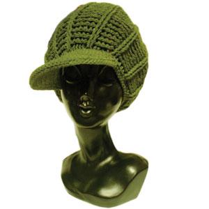 ツバ付タムニット帽子