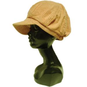 コーデュロイキャスケット帽子