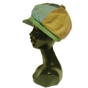パッチワークキャスケット帽子