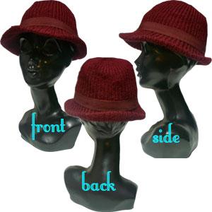 ニット中折れ帽子