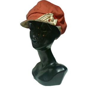 スカーフリメイクキャスケット帽子