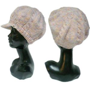 パステルニットキャスケット帽子