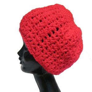 ニットクロシェタム帽子