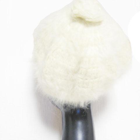 モヘアニットベレー帽