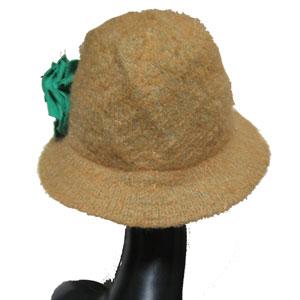 コサージュ付中折れ帽子