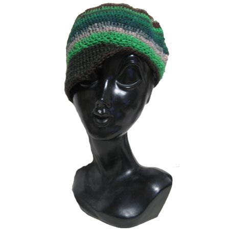 ハンドメイド ニット 帽子