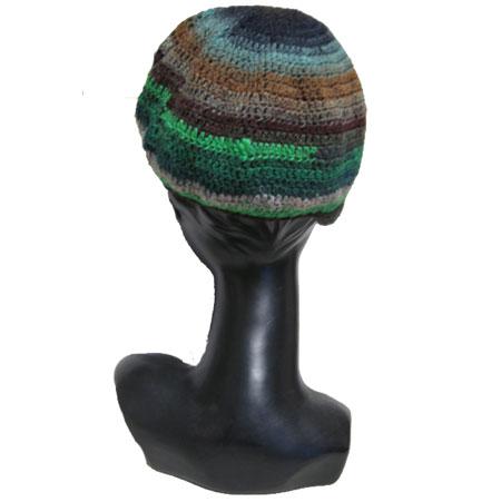 グラデーションニット帽子