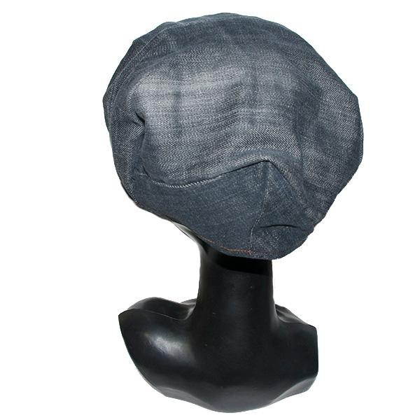 リバーシブルデニムキャスケット帽子