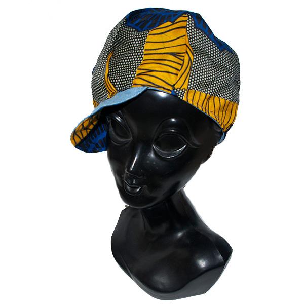 リバーシブルアフリカンキャスケット帽子