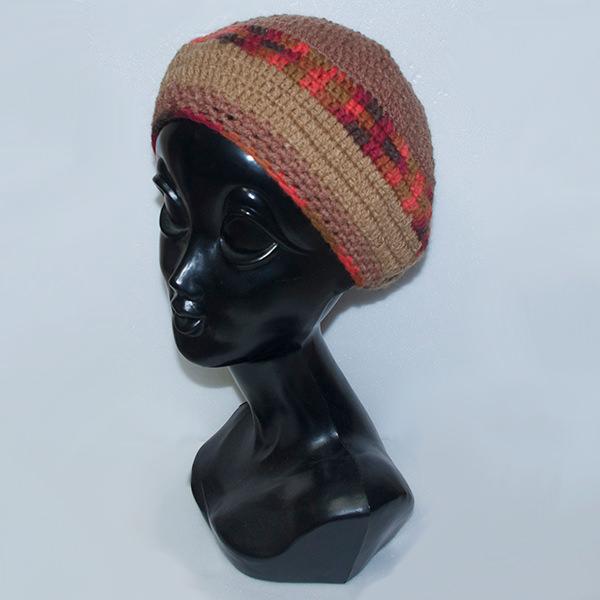 ハンドメイドニットタム帽子