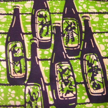 アフリカンバティック・グリーンビール柄