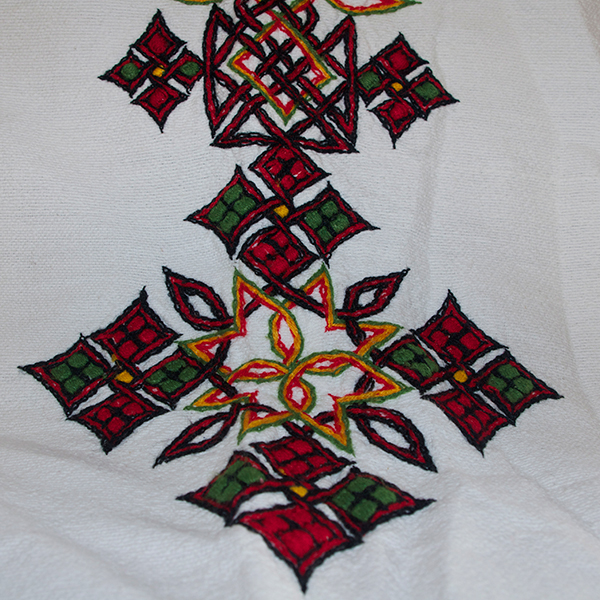エチオピアコットン刺繍カバー