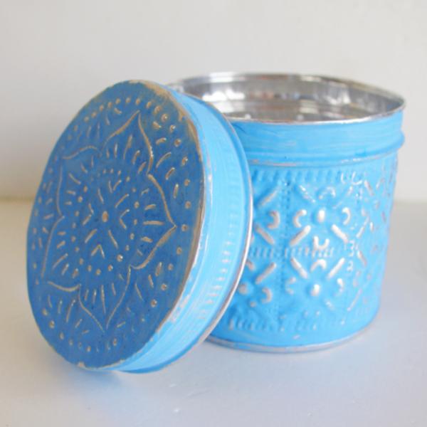 エスニックアルミ製ソカシ小物入れ円柱