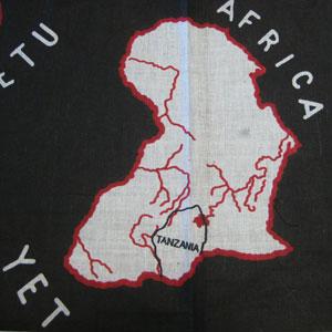 アフリカ柄カンガ