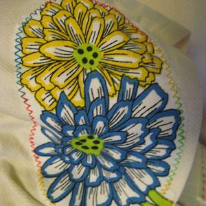 花柄パッチワーク半袖パーカー