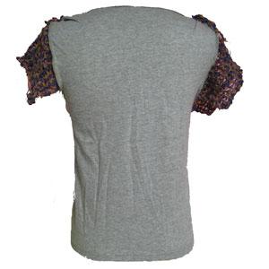 Tシャツリメイクニット袖トップス