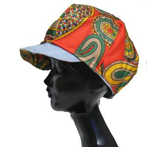 2wayリバーシブルデニムキャスケット帽子