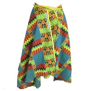 アフリカンパーニュサークル巻きスカート