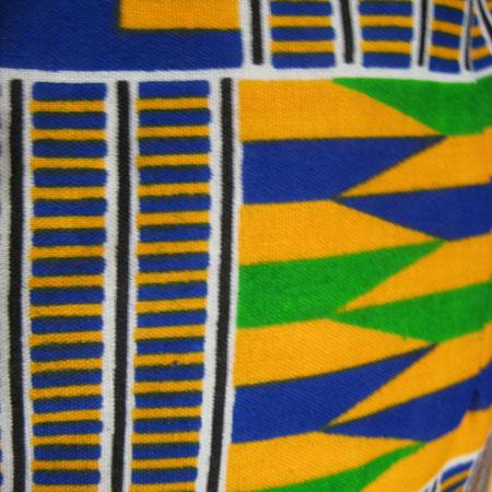 アフリカケンテ柄サロペットパンツ