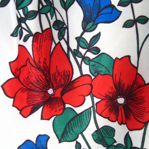 レトロ花柄チュニック