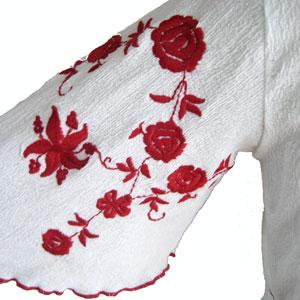 古着バタフライスリーブ刺繍チュニック