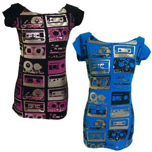 カセットテープTシャツ