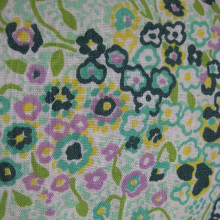 小花柄リブシャツブラウス