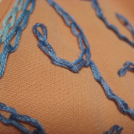 バッドスリーブ刺繍チュニック