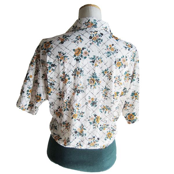 古着 花柄シャツ
