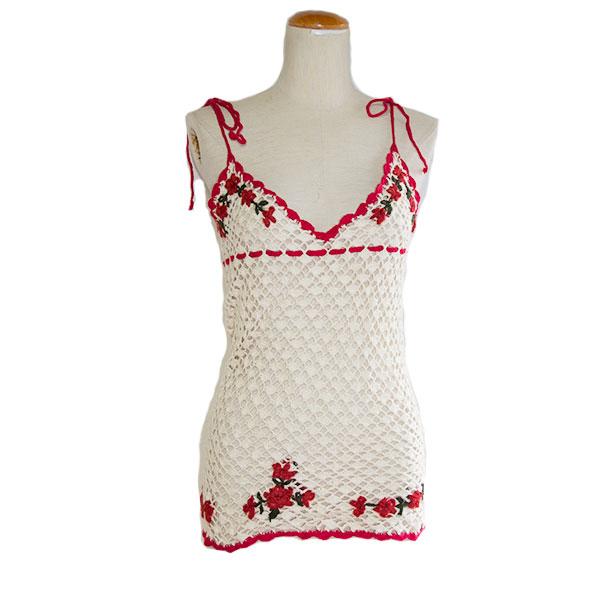 刺繍サマーニットキャミソール
