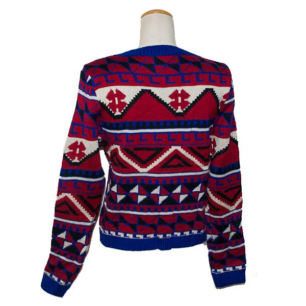 エスニック柄セーター