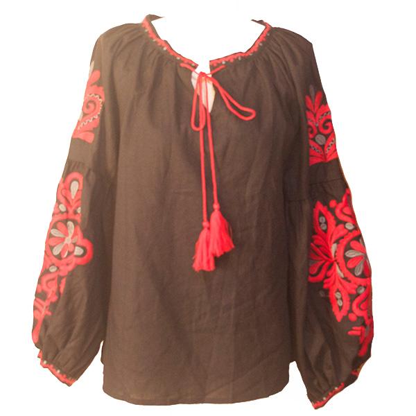 袖刺繍チュニック