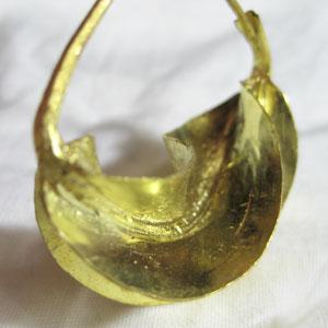 フラニゴールドフープピアス