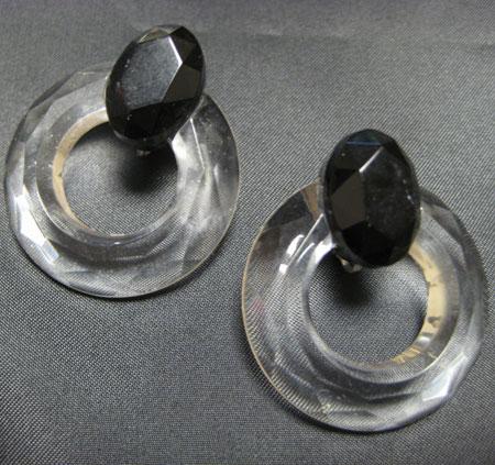 ヴィンテージプラスティックフープイヤリング