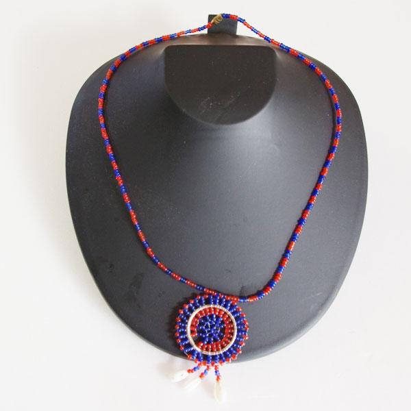 アフリカビーズネックレス
