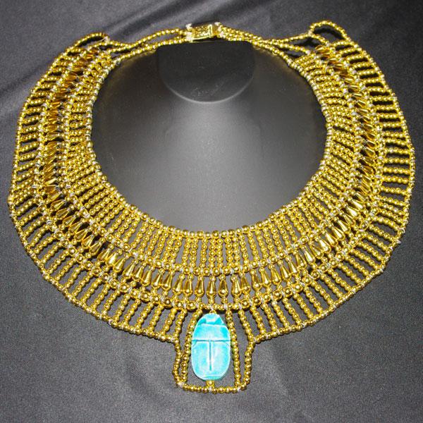 エジプシャンゴールドカラーネックレス