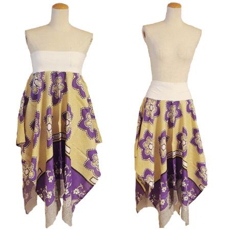 アフリカ カンガ スカート