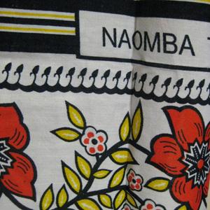アフリカンバティック布ワンピース