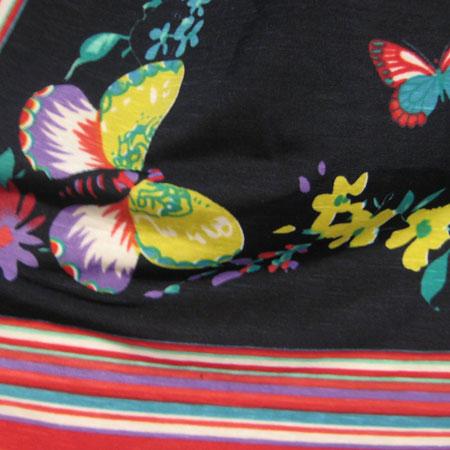 パネルレトロ花柄ワンピース