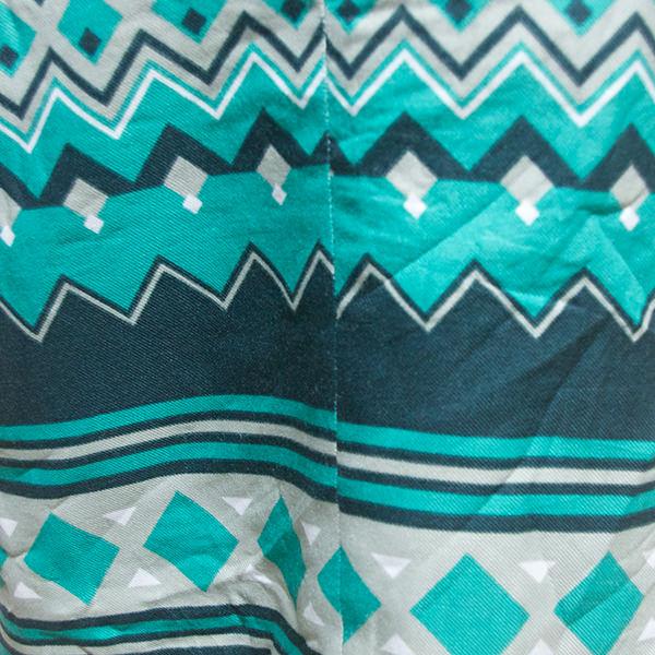 幾何学模様半袖ワンピース