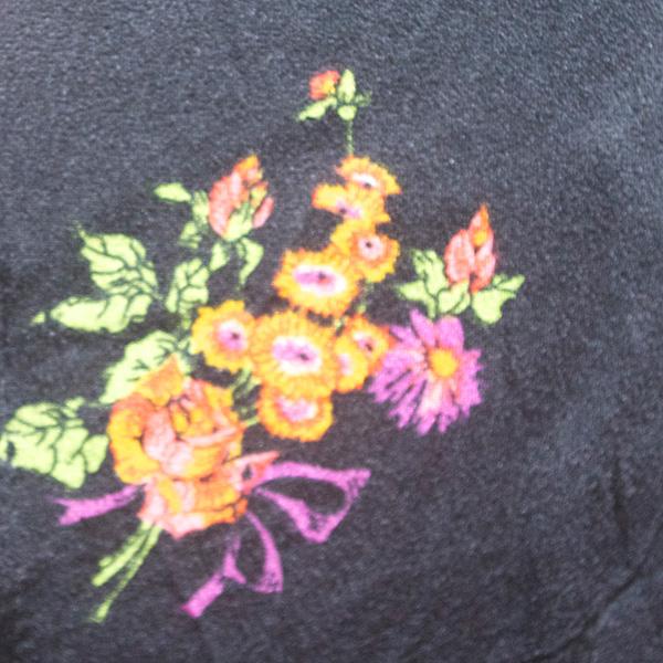 小花柄長袖ワンピース