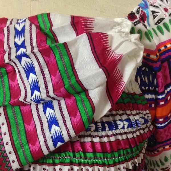 レーヨン刺繍チュニックワンピース