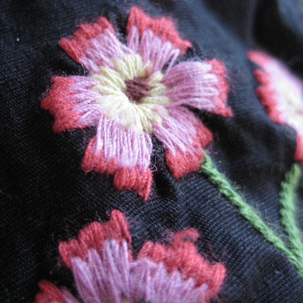 花柄刺繍ジャケット