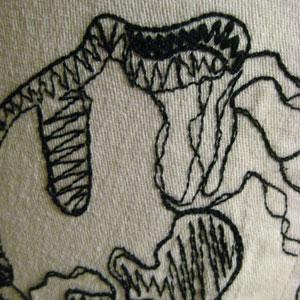 サイド刺繍パンツ