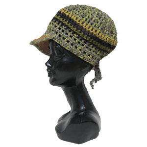 ハンドメイドボーダーニット帽子