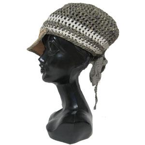 ハンドメイドかぎ針ニット帽子