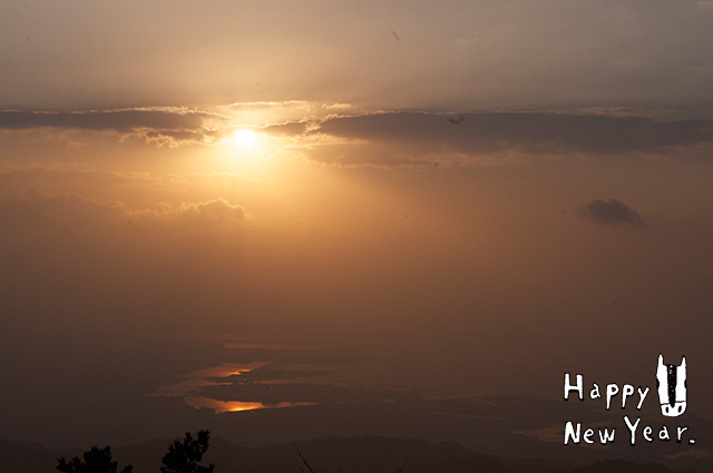 六甲山 初日の出