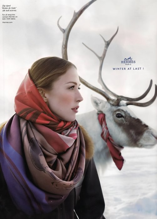 hermes scarf ad 2009