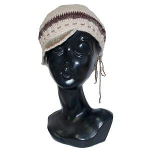 かぎ針ニットキャップ帽子