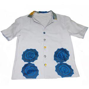 メンズ開襟シャツ
